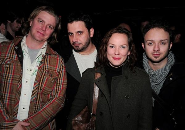 Sean Bauer, Derek Ahonen, Sarah Lemp and James Kautz at Opening Night Of Derby Day at Clurman Theatre