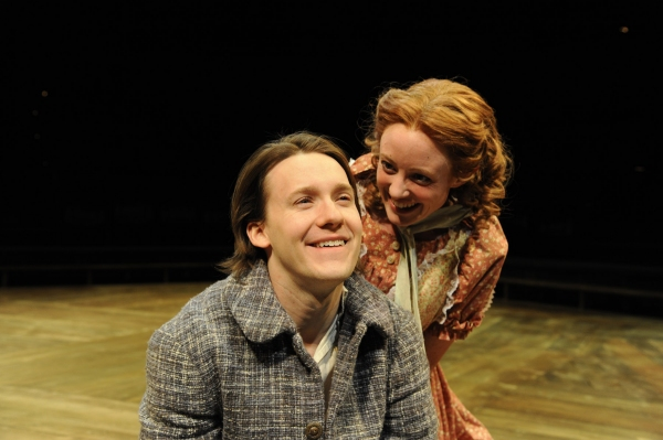 Stanton Nash as Tom Sawyer and Caitlin Wise as Becky Thatcher Photo