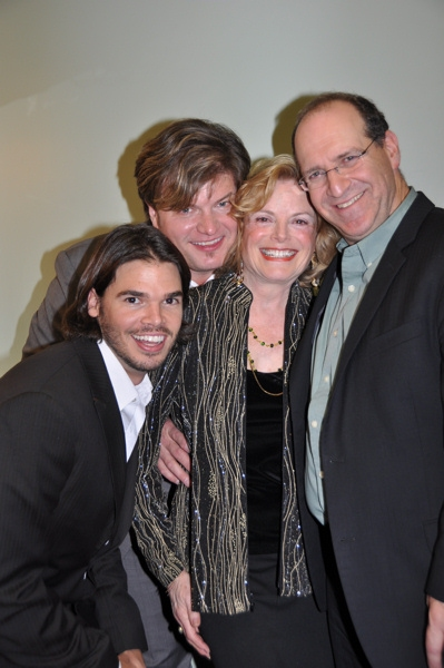 Dustin Brayley, Rob Evan, Carole Demas and Neil Berg at Rob Evan and Neil Berg Host Broadway All-Star Holiday Concert in Irvington, NY