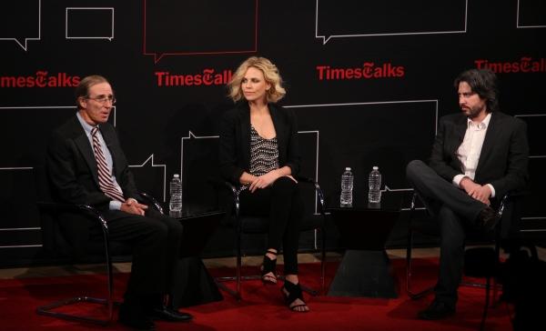 Charlize Theron & Jason Reitman with Charles McGrath