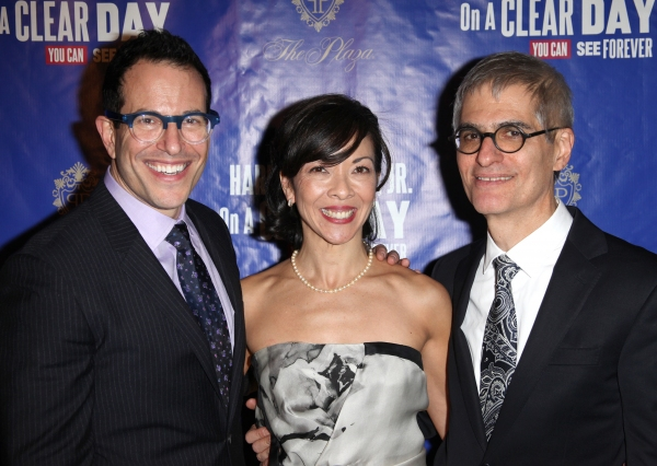 Director Michael Mayer, choreographer Joann M. Hunter and playwright Peter Parnell