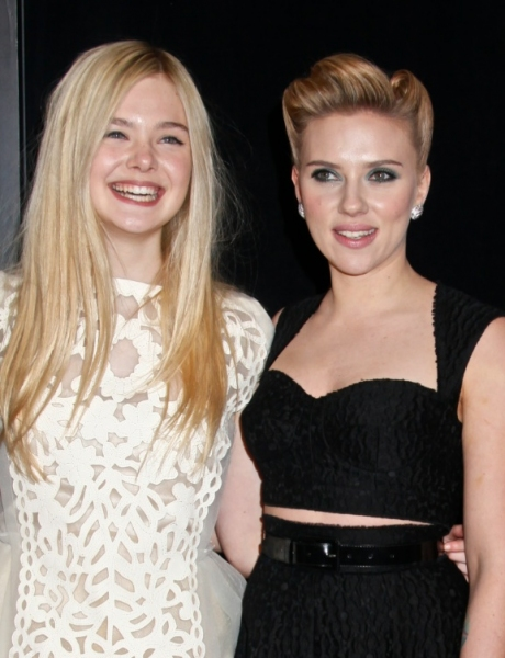 Elle Fanning & Scarlett Johansson at NY Premiere of WE BOUGHT A ZOO