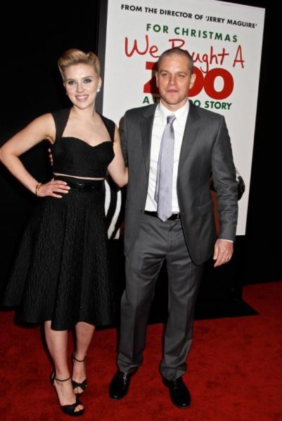 Scarlett Johansson & Matt Damon at NY Premiere of WE BOUGHT A ZOO