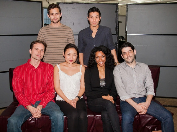 Matthew Dellapina and Nelson Lee; (front): Zayd Dohrn, Li Jun Li, Sonequa Martin-Green and Evan Cabnet