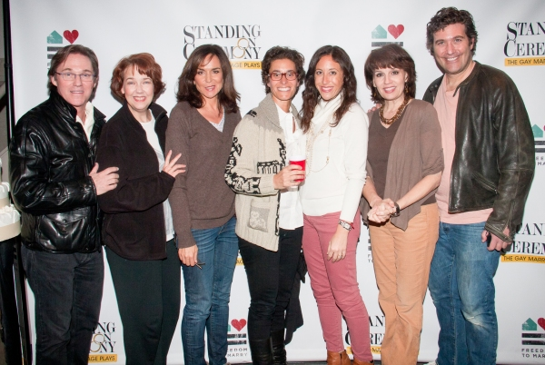 Dina Weisberger, Jenny Greenstein and the cast of STANDING ON CEREMONY