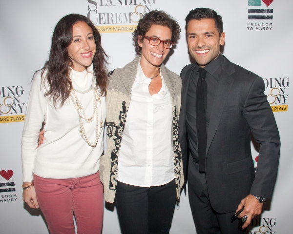 Jenny Greenstein, Dina Weisberger and Mark Consuelos
