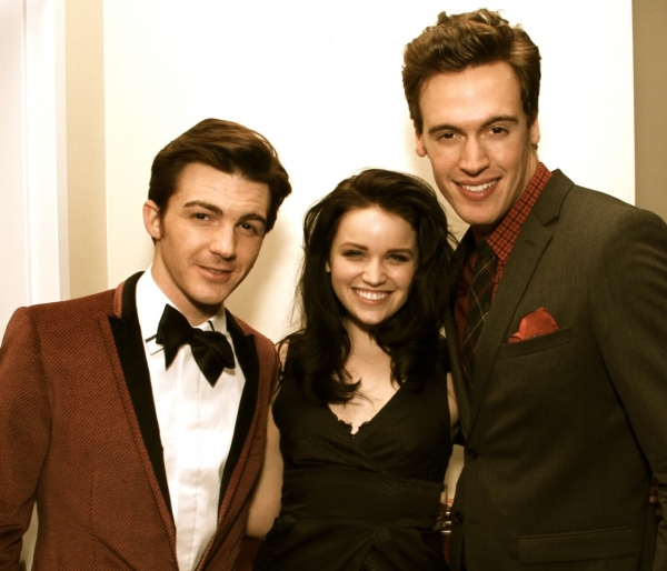 Drake Bell, Lindsay Pearce, Erich Bergen at Erich Bergen's Holiday Concert at The Coterie in Hollywood