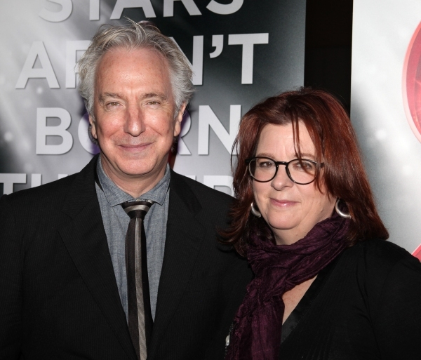Alan Rickman y Theresa Rebek