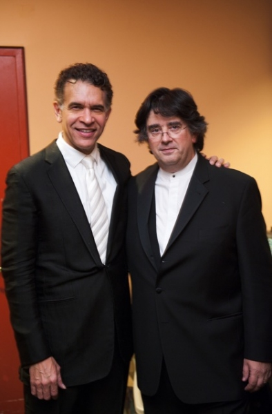 Brian Stokes Mitchell and conductor Constantine Kitsopoulos