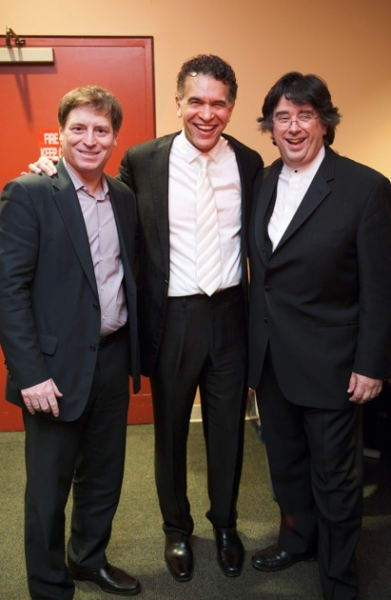 President and CEO of New Jersey Symphony Orchestra André Gremillet, Brian Stokes Mitchell and conductor Constantine Kitsopoulos