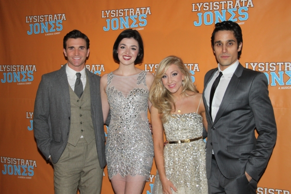 Charlie Sutton, Barrett Wilbert Weed, Libby Servais and Jared Zirilli at LYSISTRATA JONES Opening Night Party