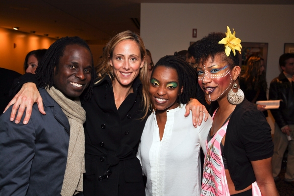 Gelan Lambert, actress Kim Raver and cast members Aimee Graham Wodobode and Oneika Phillips