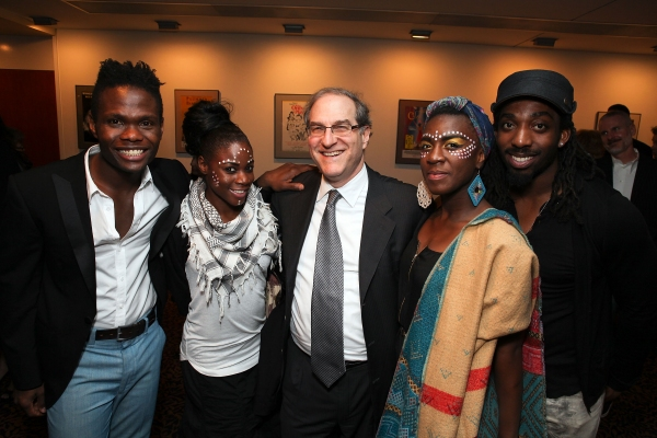 Jermaine Rowe and Sherinne Kayra Anderson pose with producer Stephen Hendel and Nandi Bhebhe and Rasaan-Elijah 'Talu' Green 