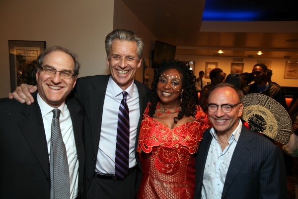 Stephen Hendel, CTG Artistic Director Michael Ritchie, Sandra Iszadore and producer Edward Tyloer Nahem at Sahr Ngaujah, et al. Celebrate FELA!'s LA Opening