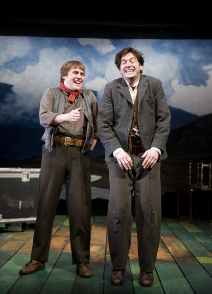 Jamie Beamish & Owen McDonnell at STONES IN HIS POCKETS At Tricycle Theatre