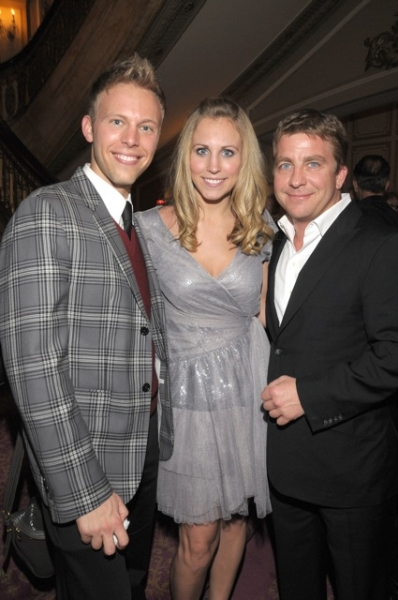 Justin Paul, wife Asher, Peter Billingsley at A CHRISTMAS STORY Celebrates Opening Night!