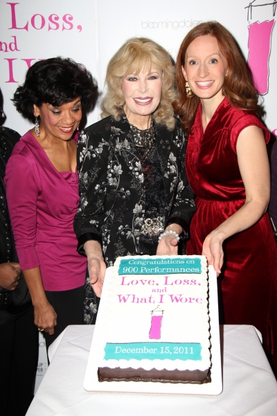 Sonia Manzano, Loretta Swit and Emiliy Dorsch at LOVE, LOSS AND WHAT I WORE Celebrates 900 Performances Off-Broadway