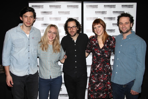 Adam Driver, Charlotte Parry, Director Sam Gold, Sarah Goldberg & Matthew Ryhs attending the Roundabout Theatre Company's Off-Broadway Production of 'Look Back in Anger' at their Rehearsal Studios in New York City. 12/16/2011