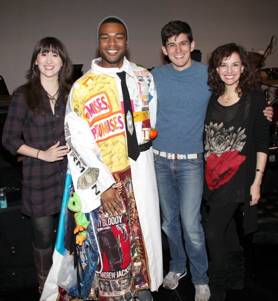 Grasan Kingsberry (Recipient-ON A CLEAR DAY) with Kendal Hartse, Patrick O'Neill & Christianne Tisdale attending the 'Hugh Jackman - Back On Broadway' Post Opening Night Gypsy Robe Ceremony for recipient Kearran Giovanni