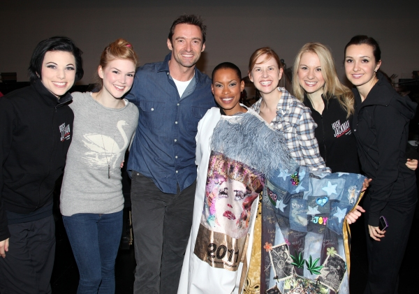 Anne Otto, Emily Tyra, Hugh Jackman, Kearran Giovanni (Gypsy Robe Recipient), Hilary  Photo