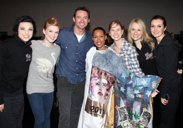 Anne Otto, Emily Tyra, Hugh Jackman, Kearran Giovanni (Gypsy Robe Recipient), Hilary Michael Thompson, Robin Campbell & Lara Seibert
