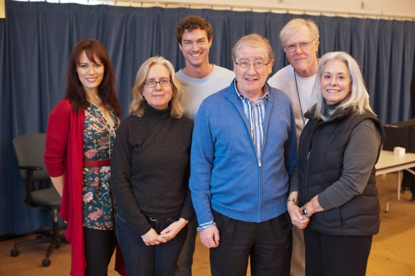 Lisa Peterson (Director, Cat on a Hot Tin Roof) Joe Dowling (Artistic Director, Guthrie Theater) and Melissa Hart (Big Mama) Back row: Emily Swallow (Margaret), Peter Christian Hansen (Brick) and David Anthony Brinkley (Big Daddy)