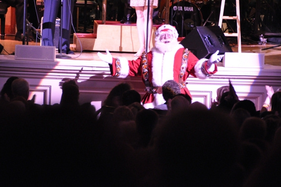 Santa Claus at John Pizzarelli and Jessica Molaskey Wish You A Swingin' Christmas With The New York Pops
