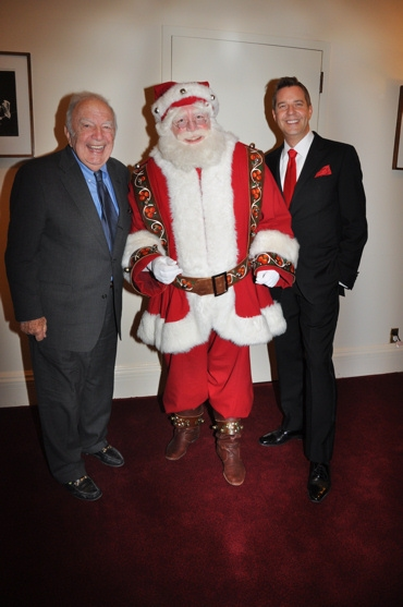 Bucky Pizzarelli, Santa Claus and Steven Reineke at John Pizzarelli and Jessica Molaskey Wish You A Swingin' Christmas With The New York Pops