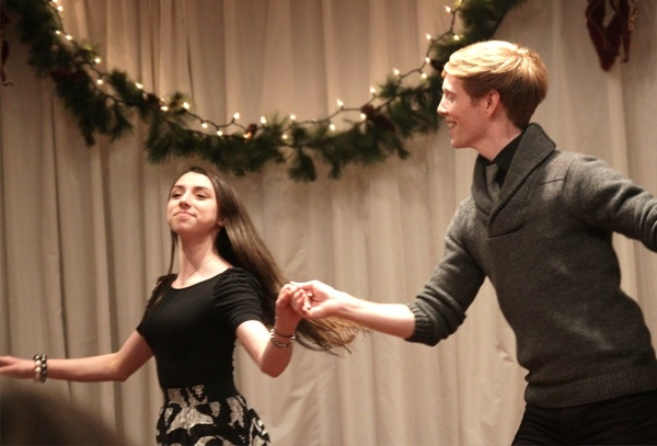 "Carly Maitlin (The Grinch) and Spencer Kiely sing & dance ""I've Got My Love to Keep M Photo"
