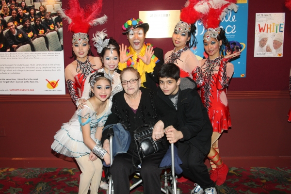 Cirque Shanghai Bai Xi cast member with Jo Jo Lenzi and Nicholas Croce Photo