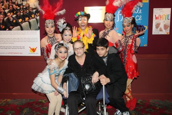 Cirque Shanghai Bai Xi cast member with Jo Jo Lenzi and Nicholas Croce