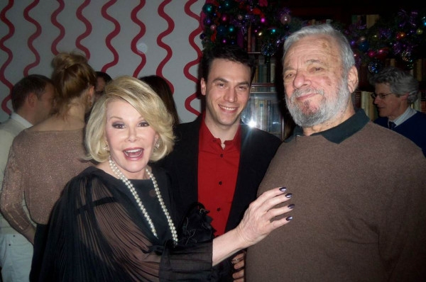 Joan Rivers, Jeff Romley and Stephen Sondheim