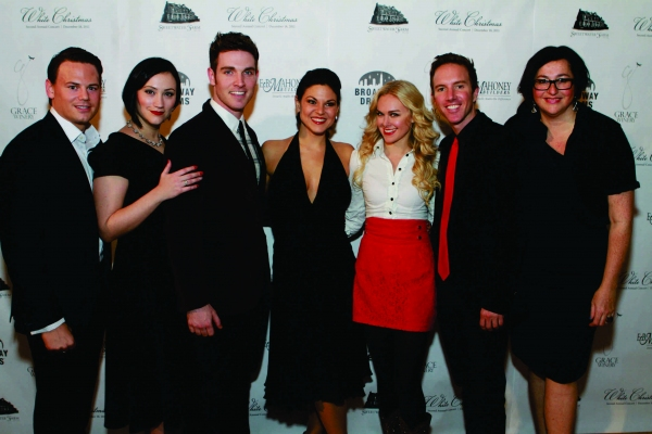 Adam Sansiveri, Eden Espinosa, Tyler Hanes, Tracy Jai Edwards, Laura Bell Bundy, Paul Canaan and Annette Tanner at Inside BDF's WHITE CHRISTMAS Cabaret