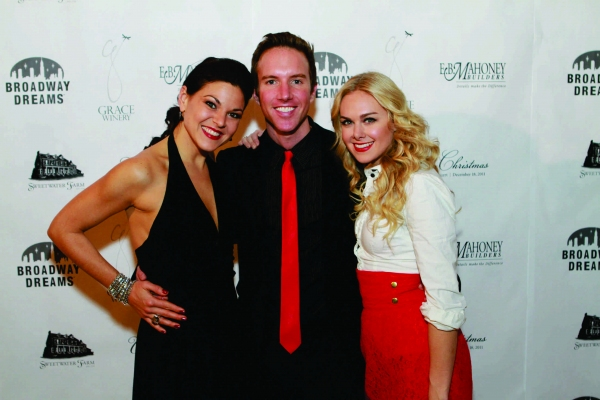 Tracy Jai Edwards, Paul Canaan and Laura Bell Bundy at Inside BDF's WHITE CHRISTMAS Cabaret