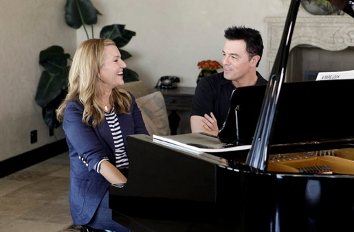 Krista Smith & Seth McFarlane at Sneak Peek - Gwyneth Paltrow et al on USA Network's OUT OF CHARACTER Airing 1/11