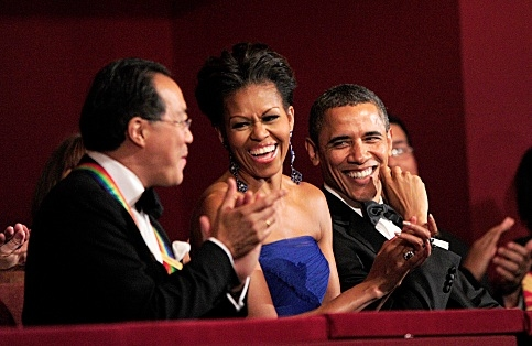 Yo-Yo Ma, Michelle Obama & President Obama at Barbara Cook, Meryl Streep, Neil Diamond Among Honorees at 34th ANNUAL KENNEDY CENTER HONORS