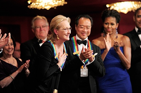 Meryl Streep, Yo-Yo Ma & Michelle Obama at Barbara Cook, Meryl Streep, Neil Diamond Among Honorees at 34th ANNUAL KENNEDY CENTER HONORS