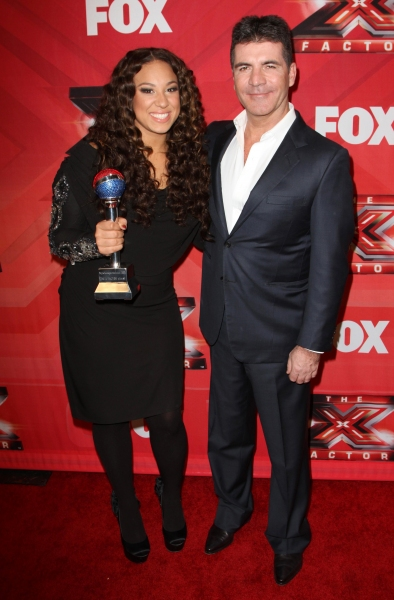Melanie Amaro, Simon Cowell at Melanie Amaro Crowned Winner of THE X FACTOR!