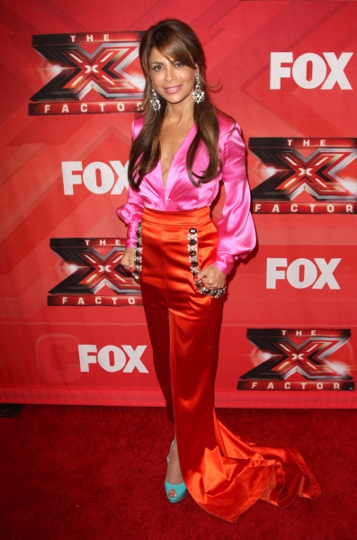 Paula Abdul at Melanie Amaro Crowned Winner of THE X FACTOR!