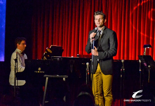 Brent Crayon and Kyle Dean Massey at Upright Cabaret's A Broadway Christmas