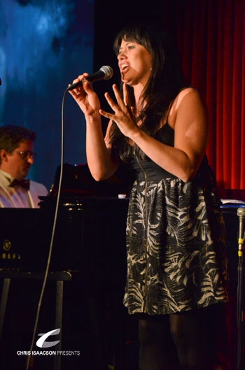 Mariand Torres at Upright Cabaret's A Broadway Christmas