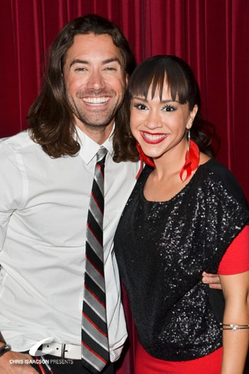 Ace Young and Diana DeGarmo at Upright Cabaret's A Broadway Christmas