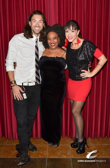 Ace Young, Carla Renata and Diana DeGarmo at Upright Cabaret's A Broadway Christmas