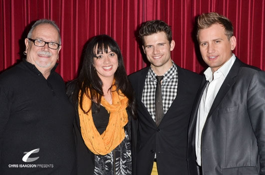 Ronn Goswick, Mariand Torres, Kyle Dean Massey and Producer Chris Isaacson at Upright Cabaret's A Broadway Christmas