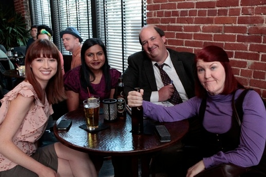Ellie Kemper, Mindy Kaling Brian Baumgartner & Kate Flannery at Sneak Peek - NBC's THE OFFICE Plays 'Trivia' 1/12