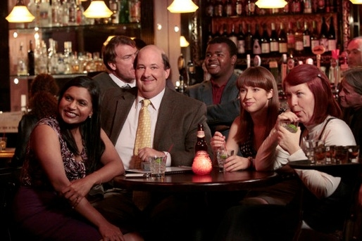 Mindy Kaling, Brian Baumgartner, Ellie Kemper & Kate Flannery at Sneak Peek - NBC's THE OFFICE Plays 'Trivia' 1/12
