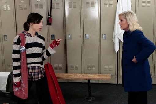 Aubrey Plaza & Amy Poehler at Sneak Peek - Leslie Makes a Comeback on NBC's PARKS AND RECREATION