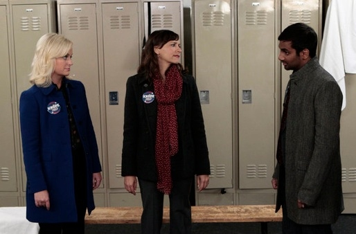 Amy Poehler, Rashida Jones & Aziz Ansari at Sneak Peek - Leslie Makes a Comeback on NBC's PARKS AND RECREATION