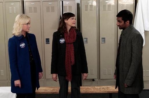 Amy Poehler, Rashida Jones & Aziz Ansari at Sneak Peek - Leslie Makes a Comeback on NBC's PARKS AND RECREATION