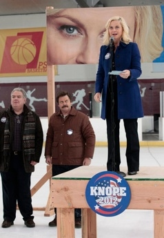 Jim O'Heir, Nick Offerman & Amy Poehler at Sneak Peek - Leslie Makes a Comeback on NBC's PARKS AND RECREATION